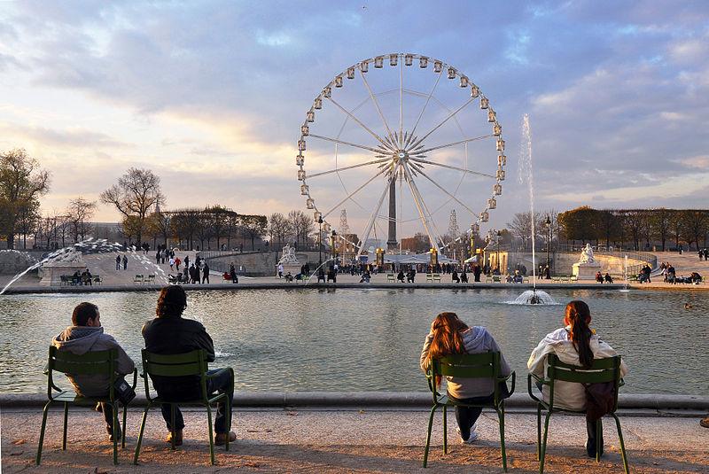Jardin des Tuileries By Moonik via Wikimedia Commons