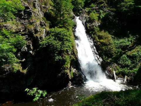 Les cascades de Gimel : Queue de cheval