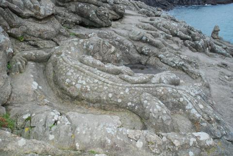 Les rochers Scuptés de Rothéneuf