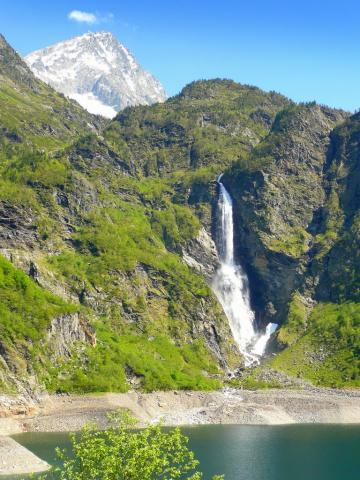 Cascade du lac d'Oô, Pyrénées luchonnaise