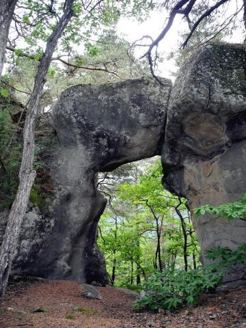 Les grès d'Annot : le trou Vers-la-ville