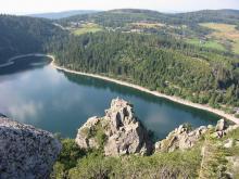 Vue du Lac Blanc depuis le Rocher Hans