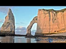 Vidéo des falaises d'Étretat