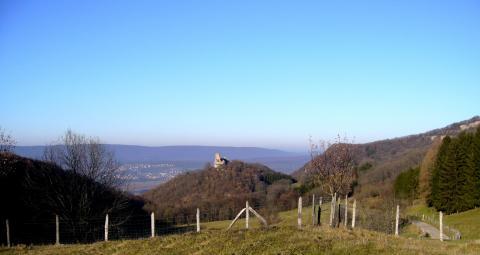 Le château de Montfaucon dans le Doubs