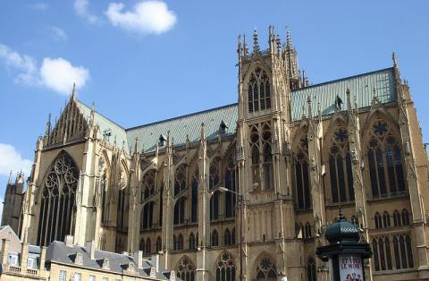 Cathédrale Saint-Étienne de Metz Par Graoully CC BY 3.0  via Wikimedia Commons