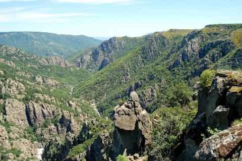 Le Belvédère et les Gorges du Chassezac (Lozère)