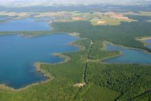 Photo aérienne Lac Orient et Temple PNRFO Pascal Bourguignon
