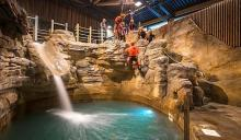 Indoor canyoning at Vesubia Mountain Park © LLecourtier